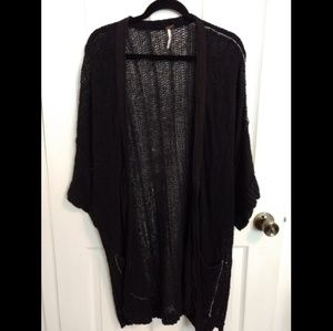 Free People Black Cardi